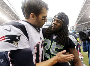 Seattle cornerback Richard Sherman gets final word with Tom Brady