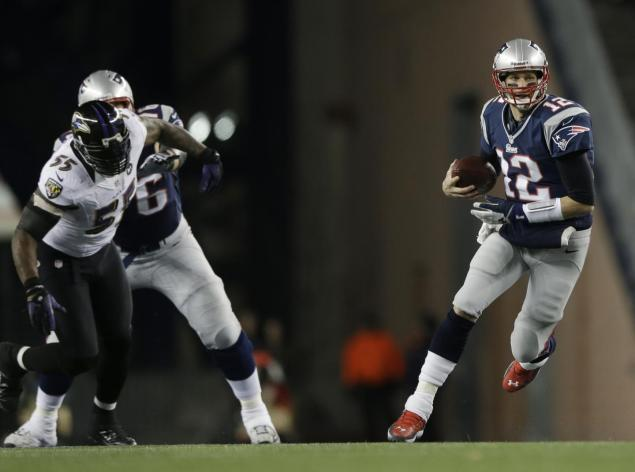 NFL looking into Tom Brady's leg-up slide during New England Patriots' AFC title game loss to the Baltimore Ravens  - tom brady slide